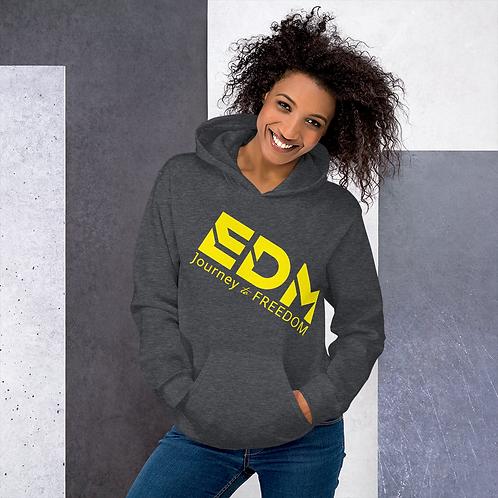 Women's Unisex Hoodie EDM J to F Style 3 Print Yellow - Various