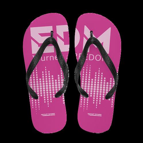 Flip-Flops Dark Pink EDM J to F Sound Bars Print - Pink