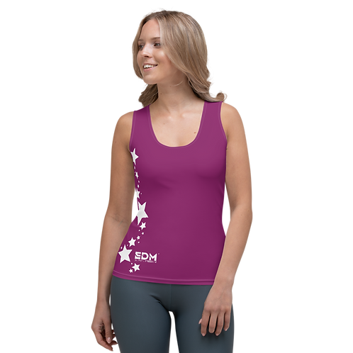 Women's Vest - EDM J to F White Star - Plum