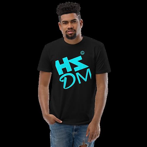 Mens Fitted T-shirt - HS Design & Music Equalizer Multi - Black