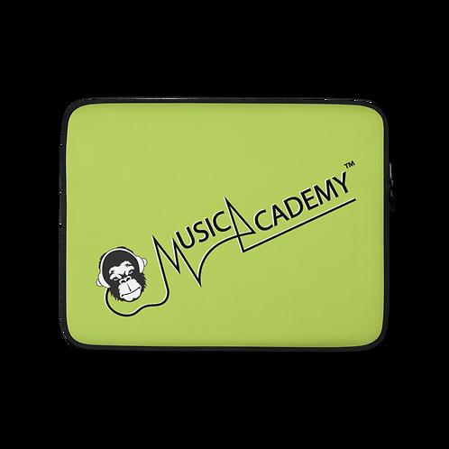 Laptop Case Zip Up - GS Music Academy Ape Text - Green