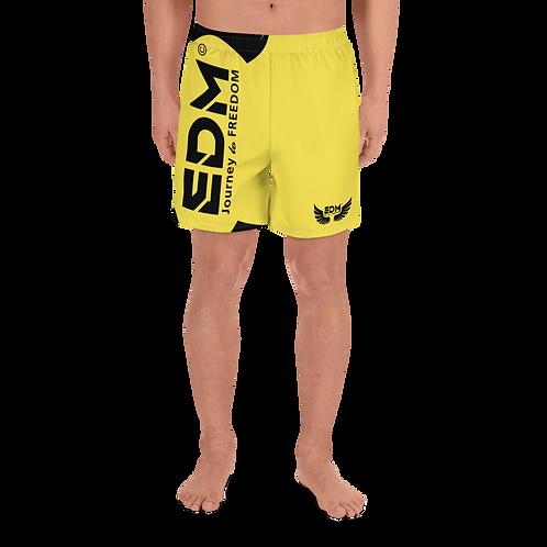 Men's Long Shorts - EDM J to F Black - Yellow