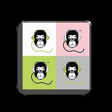 Square Canvas 12x12/16x16 - GS Music Academy Ape DJ - All colour range