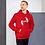 Thumbnail: Mens Unisex Hoodie EDM J to F Logo Print White - Various