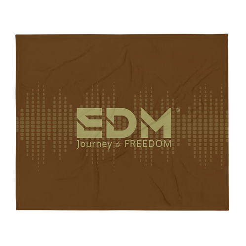 Fleece Throw Blanket - 50 x 60cm - EDM J to F Sound bars - Brown / Gold
