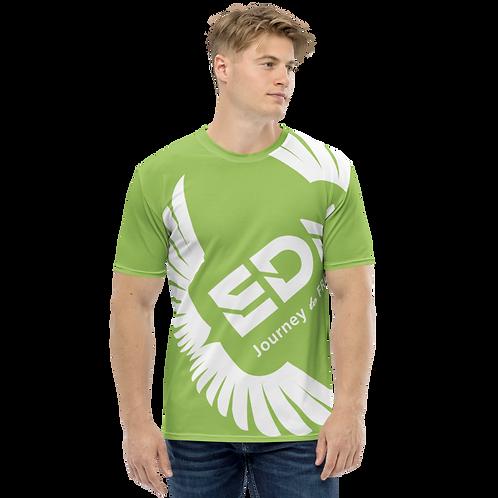 Men's T-shirt Green - EDM Journey to Freedom Large Print - White