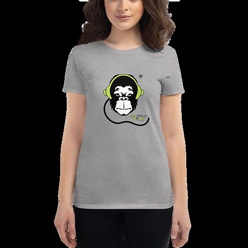 Women's T-shirt - GS Music Academy Ape DJ - Grey