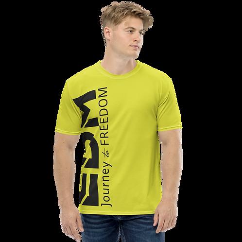 Men's T-shirt Lime - EDM Journey to Freedom Large Print - Black