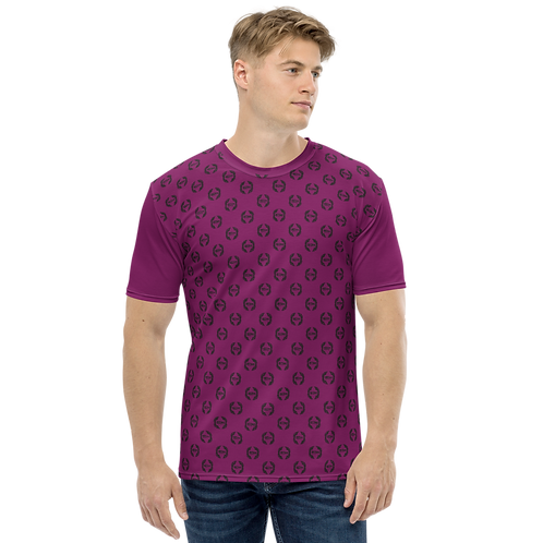Men's T-shirt Plum - EDM Journey to Freedom Small Pattern Print - Black