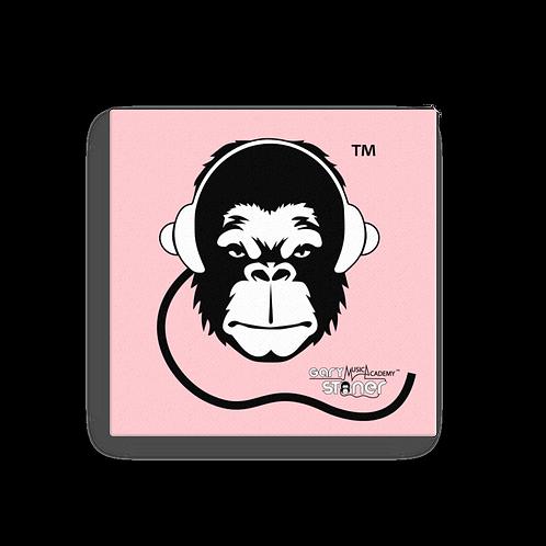Square Canvas 12x12 / 16x16  - GS Music Academy Ape - Pink / Black