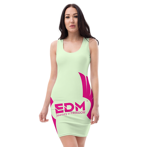 Body Con Mint - EDM Journey to Freedom Hot Pink Print Style 2
