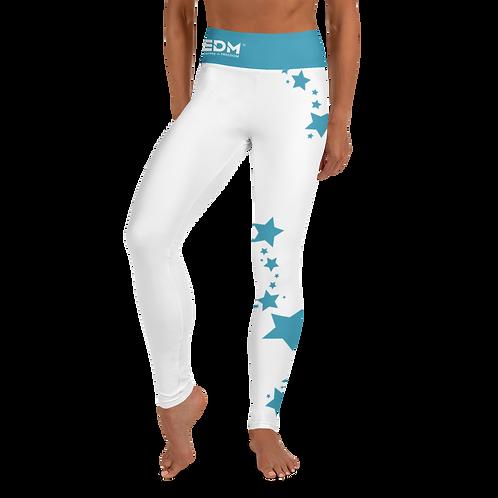 Women's Leggings Blue Teal Star - EDM J to F White