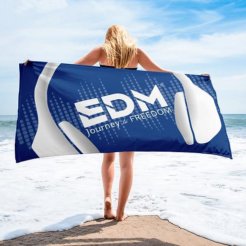 Beach Towel Pink - EDM J to F Headphones White - Royal Blue