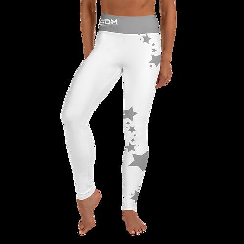 Women's Leggings Grey Star - EDM J to F White