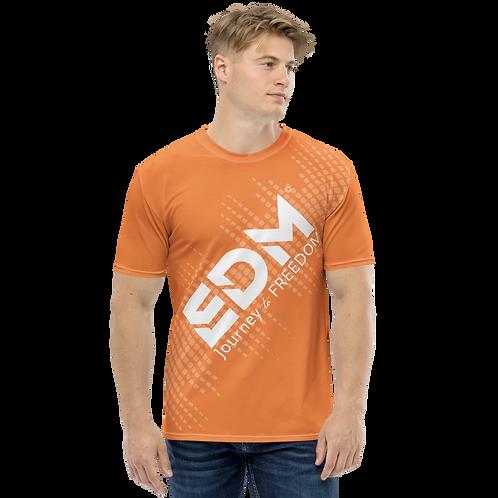 Men's T-shirt - EDM J to F Sound Bars - White / Orange
