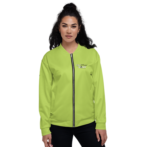Womens Unisex Fit Bomber Jacket - GS Music Academy - Green