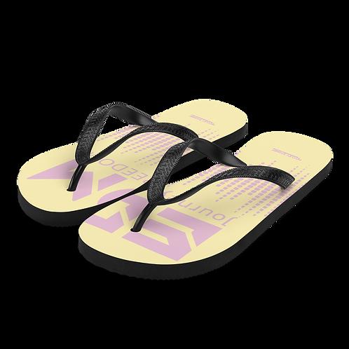 Flip-Flops Lemon EDM J to F Sound Bars Print - Pink