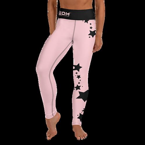 Women's Leggings Black Star - EDM J to F Baby Pink