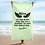 Thumbnail: Beach Towel / Towel - EDM J to F Slogan Print Black - Mint