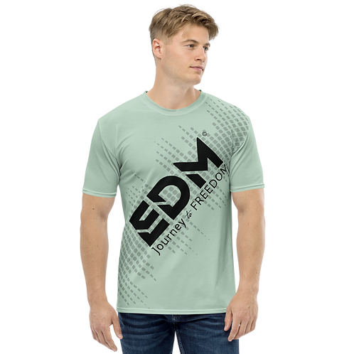 Men's T-shirt - EDM J to F Sound Bars - Black / Sage