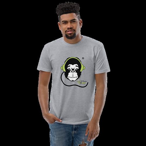 Mens Fitted T-shirt - GS Music Academy Ape DJ - Grey