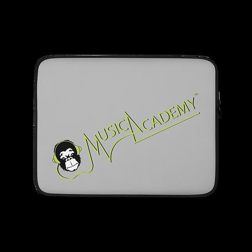 Laptop Case Zip Up - GS Music Academy Ape Text - Grey