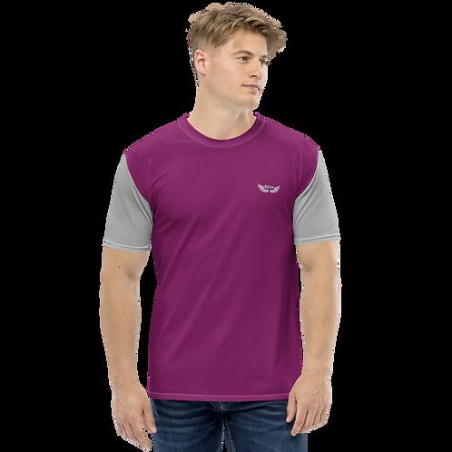 Men's T-shirt - Plum/Grey - EDM J to F Logo