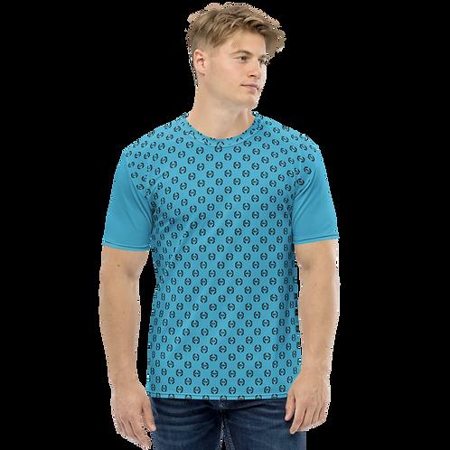 Men's T-shirt Blue - EDM Journey to Freedom Small Pattern Print - Black
