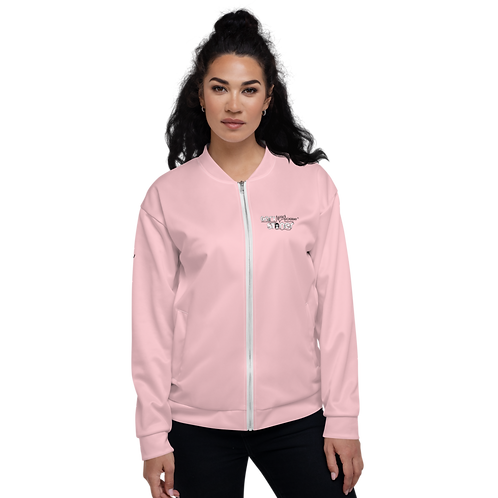 Womens Unisex Fit Bomber Jacket - GS Music Academy - Pink