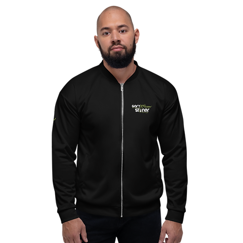 Mens Unisex Fit Bomber Jacket - GS Music Academy - Black