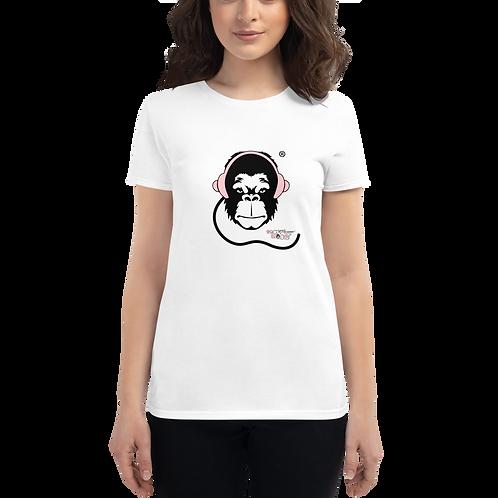 Women's short sleeve T-shirt - GS Music Academy Pink Logo - White
