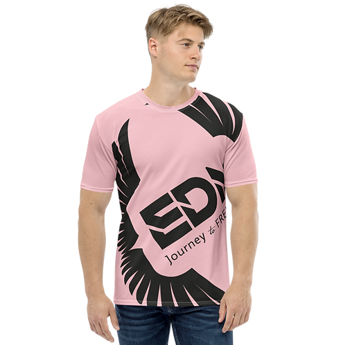 Men's T-shirt Pink - EDM Journey to Freedom Large Print - Black