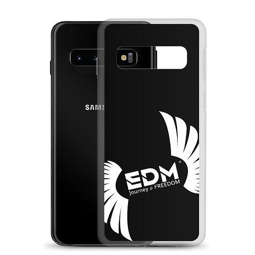 Samsung Case Black - EDM Journey to Freedom Print - White