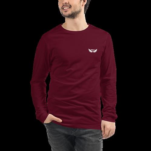 Mens Unisex Long Sleeve T-shirt - EDM J to F logo small - Various Colours
