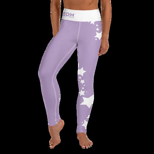 Women's Leggings White Star - EDM J to F Purple