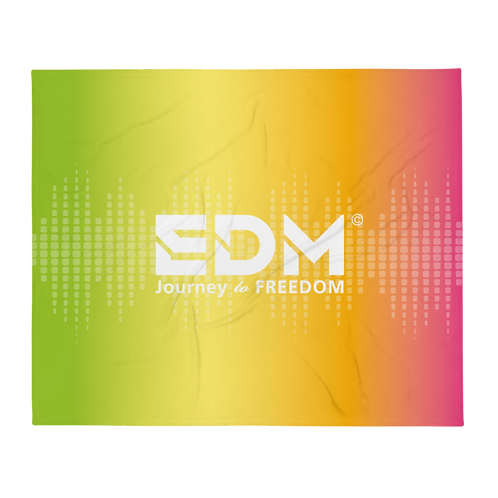 Fleece Throw Blanket - 50 x 60cm - EDM J to F Sound bars - Multi / White
