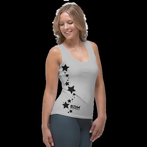 Women's Vest - EDM J to F Black Star - Grey