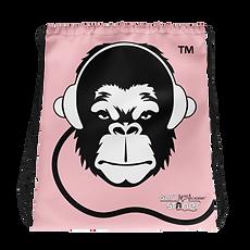 Drawstring Bag - GS Music Academy Ape DJ - Pink
