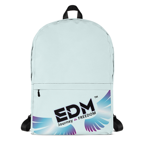 Backpack Ice Blue / Black - EDM Journey to Freedom Print - Multi