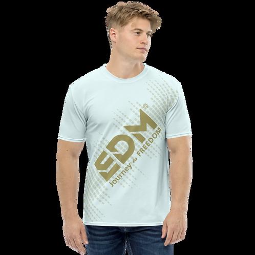 Men's T-shirt - EDM J to F Sound Bars - Gold/Ice Blue