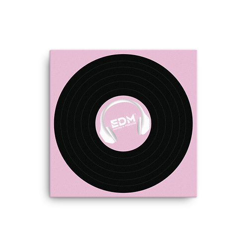 Square Canvas 12x12 / 16x16  - EDM J to F Record - Pink