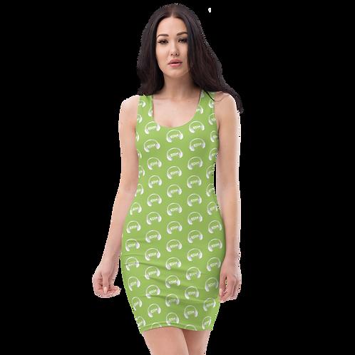 Body Con Dress - EDM J to F Headphone White - Green