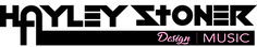 Hayley Stoner MUSIC Logo Black & pink te