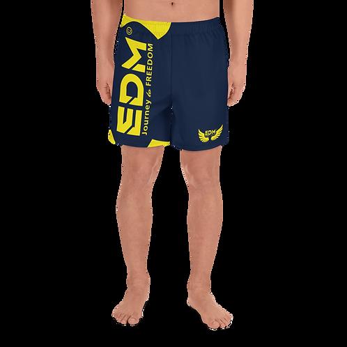 Men's Long Shorts - EDM J to F Yellow - Navy
