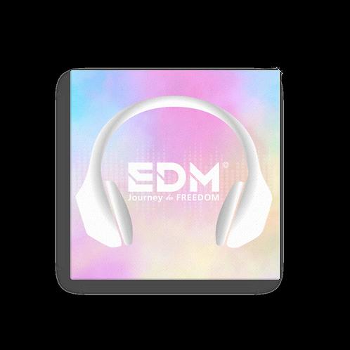 Canvas Assorted Sizes - EDM J to F Tye Dye Headphones Print White
