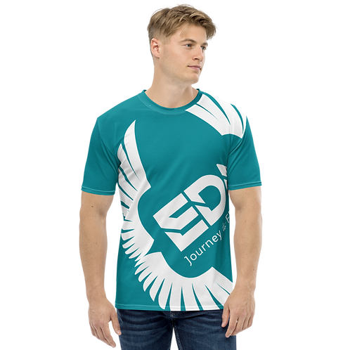 Men's T-shirt Teal - EDM Journey to Freedom Large Print - White