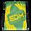 Thumbnail: Green Drawstring Bag - EDM Journey to Freedom Large Print - Yellow