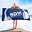 Thumbnail: Beach / Bath Towel - EDM J to F Headphones White - Royal Blue