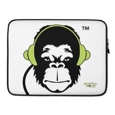 "Laptop Case Zip Up - 13""/15"" GS Music Academy Ape DJ - White"