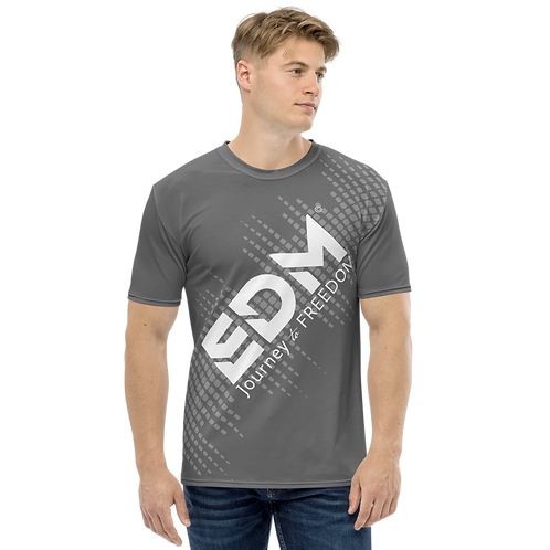 Men's T-shirt - EDM J to F Sound Bars - White / Charcoal